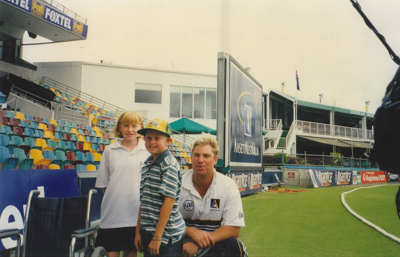 Emma and Brendan with Shane Warne